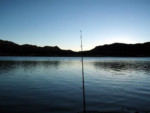 camping sunrise dawn fishing elevenmile