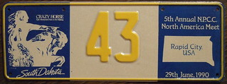 N.P.C.C. 1990 5TH ANNUAL NORTH AMERICAN MEET souvenir license plate