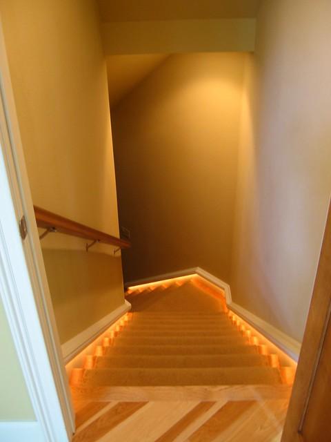 Basement Stairwell Lighting: Rope Lights Stairway To Basement