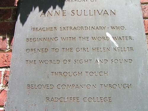 Anne Sullivan remembrance in Harvard Square