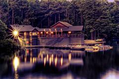 Lake Johnson Boathouse HDR (Aged)
