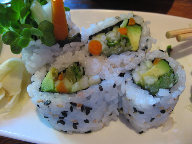 vegetarian sushi roll | Flickr - Photo Sharing!