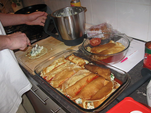 Brazen 39 s mostly gluten free adventures chicken ricotta crepe bake thermomix - Crepe au thermomix ...