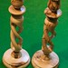 Olive Wood Candlesticks