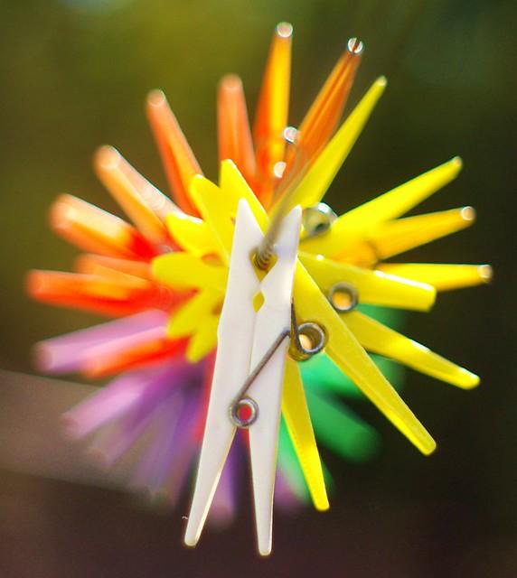 color consistency plastic clothes pins