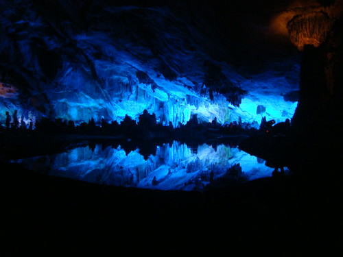 Blue Light in a Cave by Stimpdawg