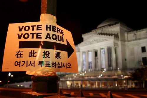 Vote here, Vote Aqui.