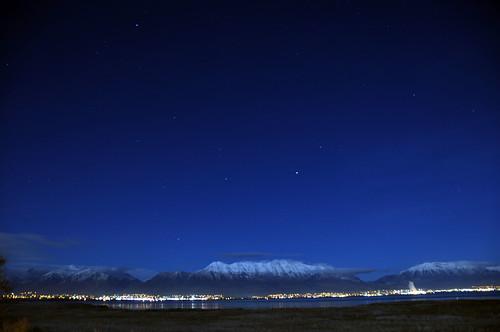longexposure mountain snow mountains night utah saratogasprings timpanogos provo orem lehi