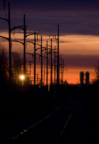 minnesota sunrise telephonepoles mapped railroadtracks waitepark aretheystillcalledtelephonepoles
