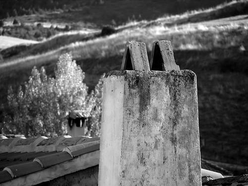 Chimeneas y tejados en Pinilla de Molina