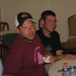 Poker night Chaunce and Tyler