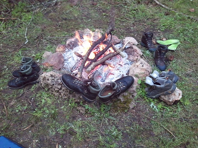 Drying out our boots