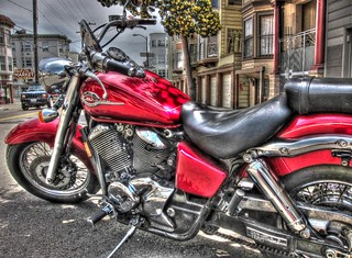 Red Motorcycle Handheld HDR