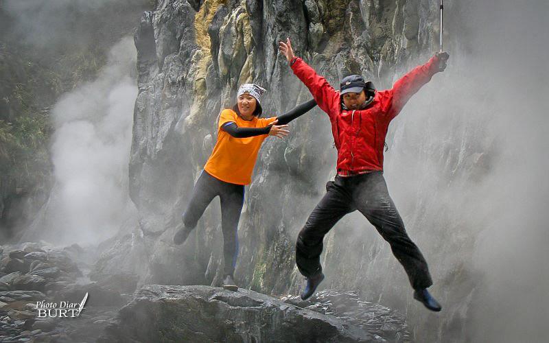 莫很溫泉前的跳躍