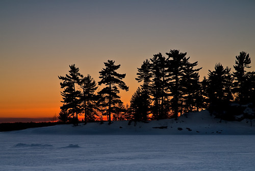 winter sunset camp nikon northernontario pineisland nikkor1870mm gnd d80 nikond80