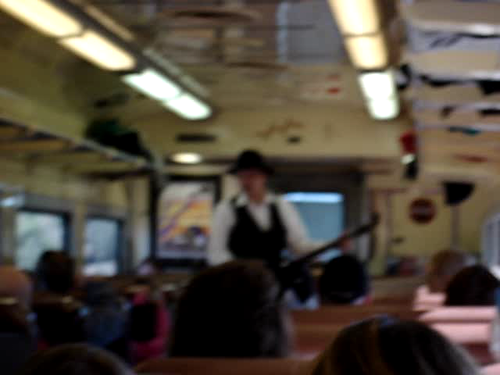 Banjo Guy on a Train