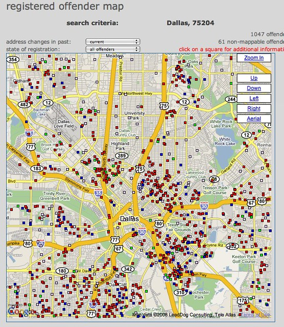 Map of registered sex offenders in your neighborhood