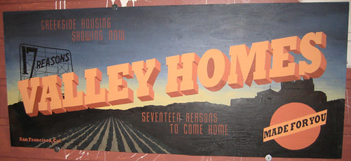 Valley Homes sign