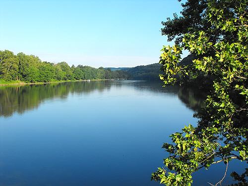 bridge newjersey pennsylvania nj bluesky pa buckscounty delawareriver milfordnj hunterdoncounty riverscape upperblackeddypa absolutelystunningscapes qualitypixels