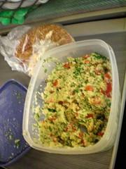 salad(0.0), dip(0.0), produce(0.0), meal(1.0), lunch(1.0), breakfast(1.0), vegetarian food(1.0), food(1.0), dish(1.0), guacamole(1.0), cuisine(1.0),