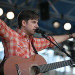 Sunday at the Newport Folk Festival, 2008 - Joey Burns takes flight