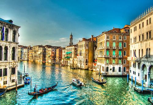 Venice Italy - The Grand Canal and Gondolas