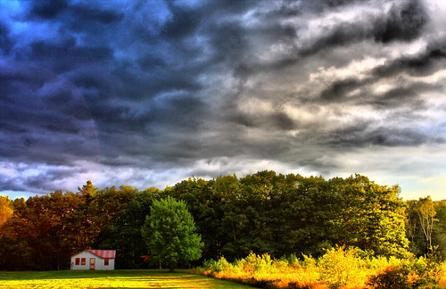 desktop trees wallpaper sky house clouds background maine creativecommons hdr