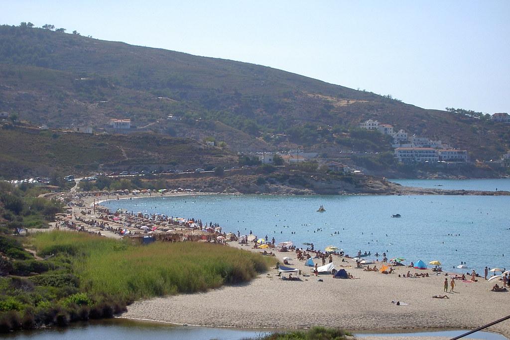 Mesakti beach in August