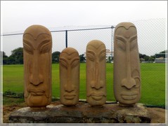 carving, art, sculpture, stele, stone carving, tiki,