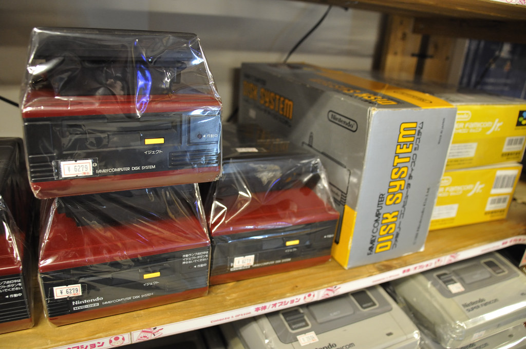 Famicom Disk Systems at Super Potato in Akihabara
