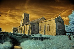 Infrared St Mary's church East Ruston Norfolk