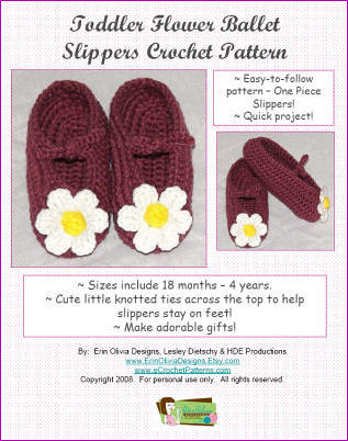 Ballet Slippers for toddler - Crochetville