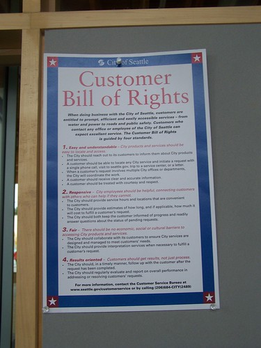 Customer Bill of Rights: City of Seattle