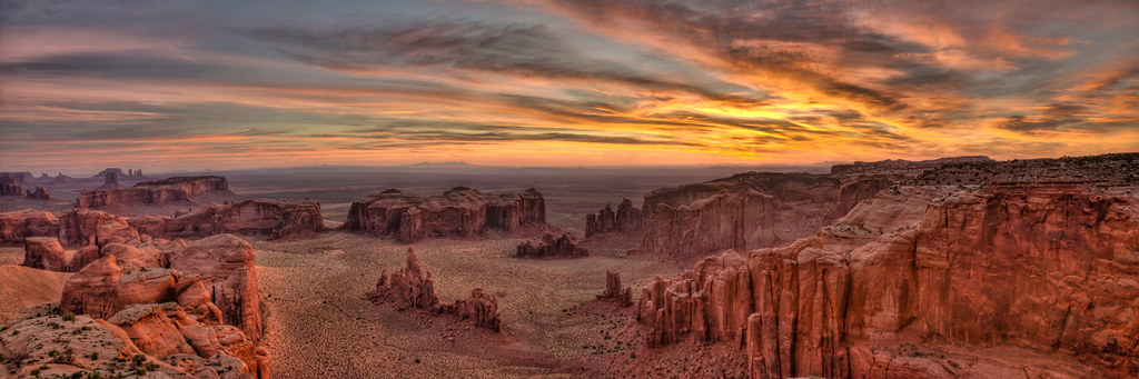 Hunt's Mesa -- Sunrise Pano Take II