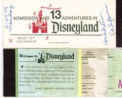 RARE Disneyland Ticket Book from 1974