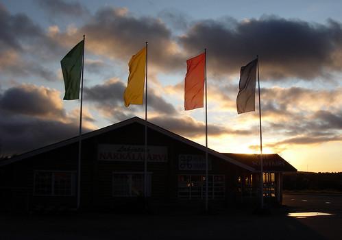 sunset finland evening town village inari north lapland sapmi sápmi