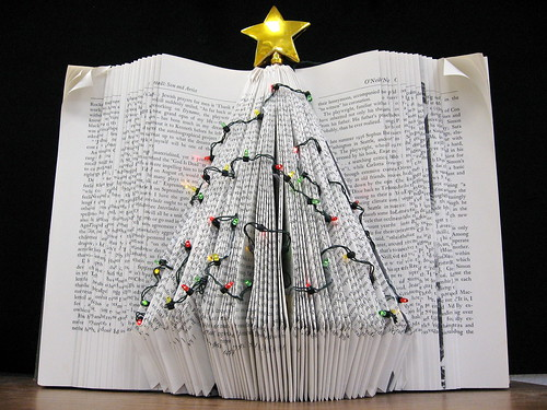 Holiday Tree Book Art