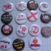 Set of button badges
