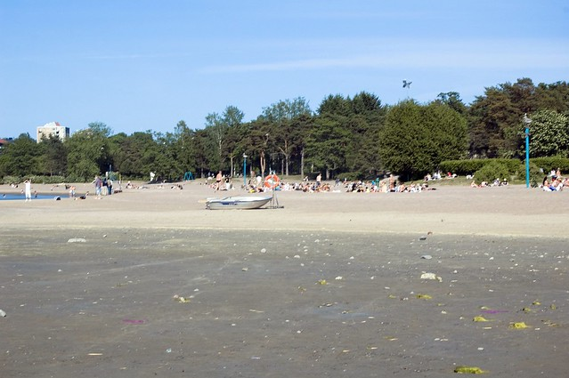 Beach in the baltic sea, in Helsinki