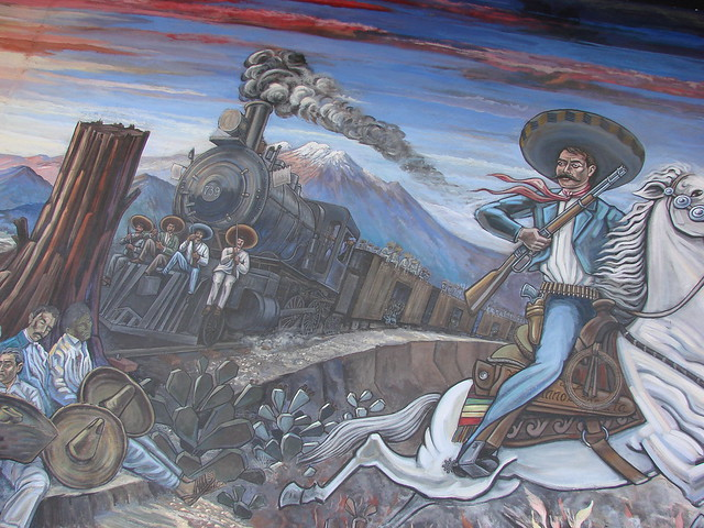 Mural vida de emiliano zapata flickr photo sharing for Emiliano zapata mural