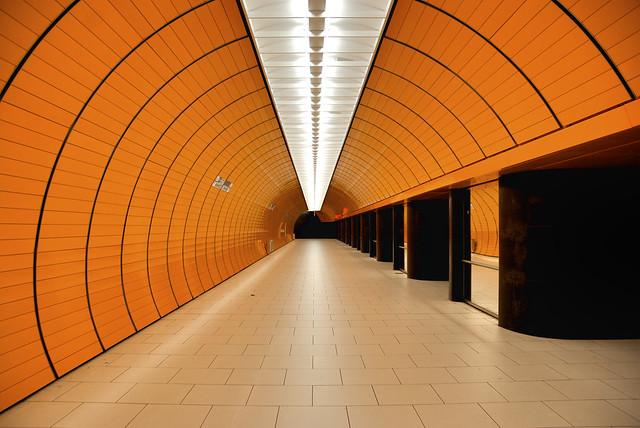 orange, metro, symmetry