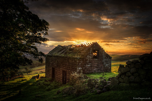 Roaches barn at sunset