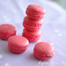 stacked pink macarons