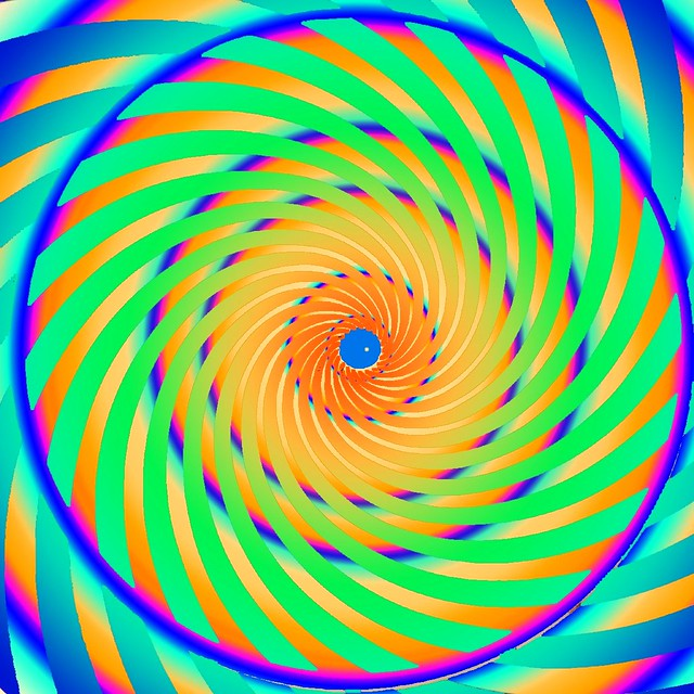 Hypnotic whirlepool spiral (Colour invertion)