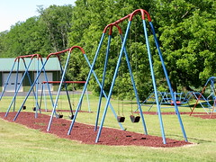 outdoor play equipment, swing, public space, playground,