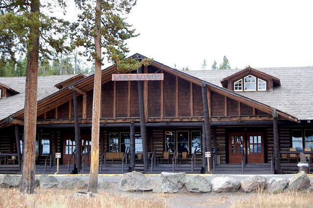 Ynp lake village destination a gallery on flickr for Yellowstone log cabin hotel