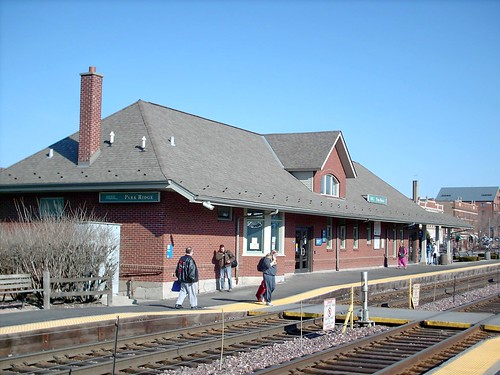 The Park Ridge, Metra commuter rail station. Park Ridge Illinois. March 2008. by Eddie from Chicago