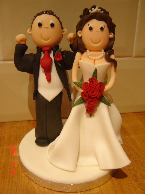 how to make fondant wedding cake toppers and groom flickr photo 15945