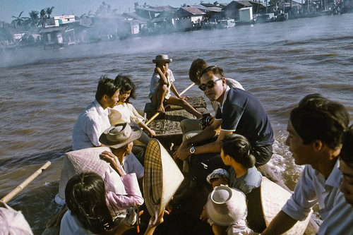 Water Taxi across the Mekong to Kien Hoa January 1969 by Lance & Cromwell