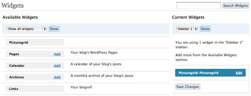 WordPress 2.5 Widget MAnipulation